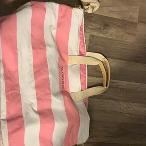 Light pink and white extra large tote bag